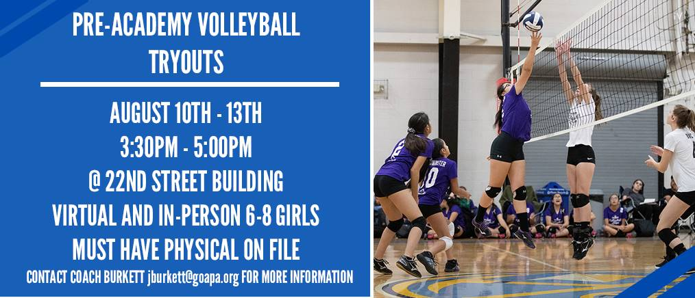 PRE ACADEMY VB TRYOUTS
